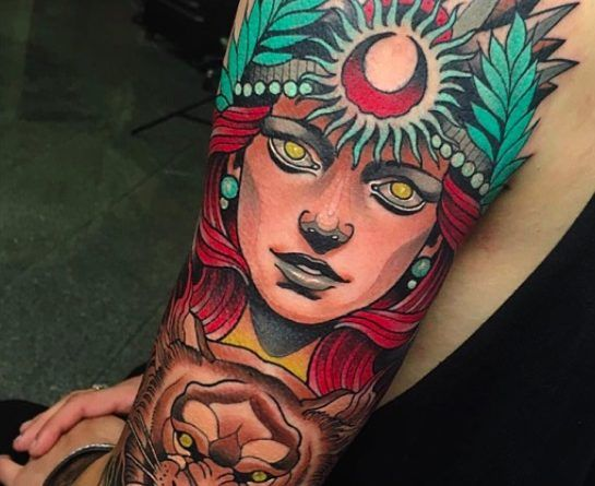 neo traditional sleeve ontattoo