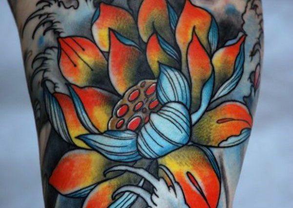 Тату Лотос. Фото и значение татуировки с цветком лотоса фото