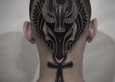 тату крест анкх символ анх татуировки фото на голове