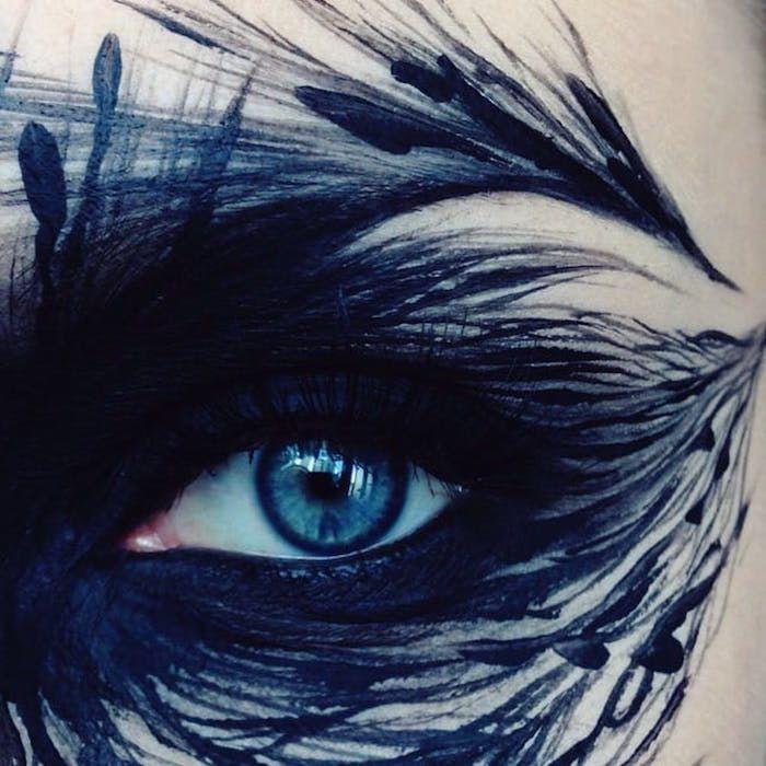 Макияж на Хэллоуин для девушек фото грим глаз