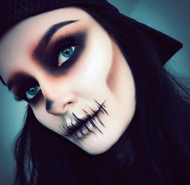 Макияж на Хэллоуин для девушек фото грим