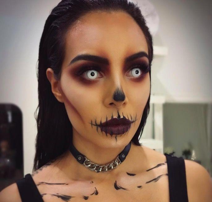 Макияж на Хэллоуин для девушек фото грим линзы
