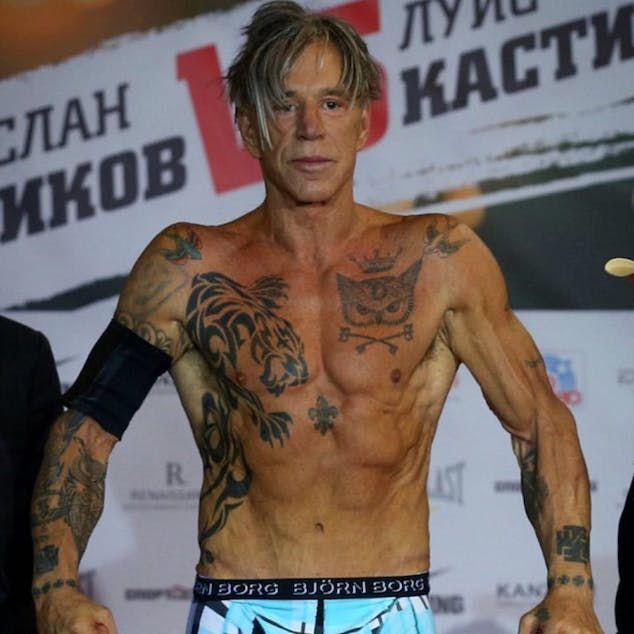 Mickey Rourke татуировки фото