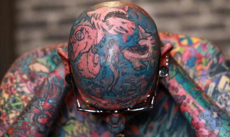 Paul Allen on tattoo man