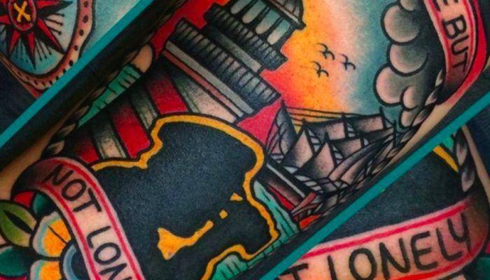 Свежий ветер в парусах морских татуировок