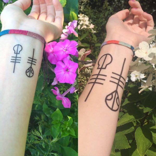 Twenty One Pilots: Skeleton Clique tattoo
