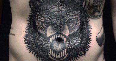 тату медведь фото каталог татуировок