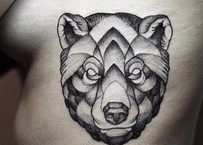 тату медведь на ребрах секс