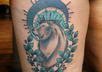тату медведь белый