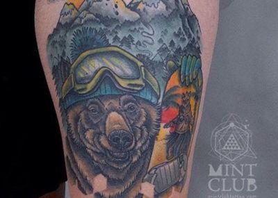 тату медведь