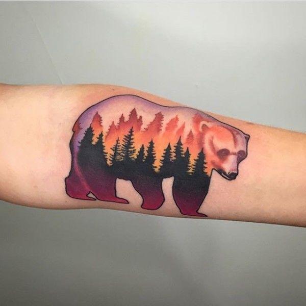деревья тату медведь фото on-tattoo