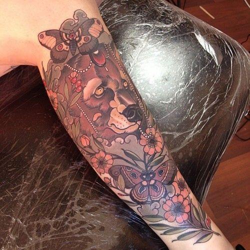 бабочка тату медведь фото on-tattoo