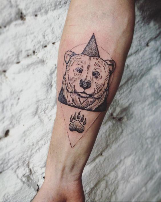 тату медведь фото on-tattoo на руке