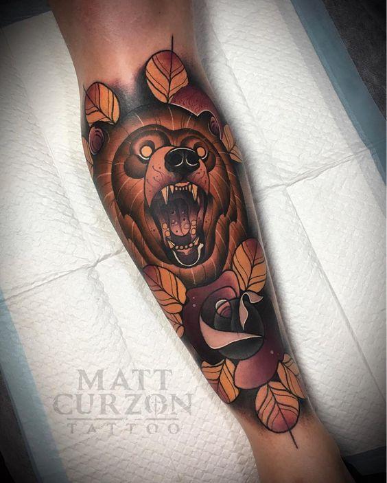 осень тату медведь фото on-tattoo