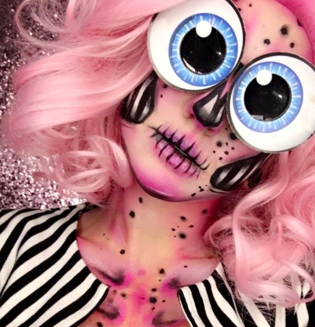 Боди-арт макияж образы для Хэллоуин фото грим