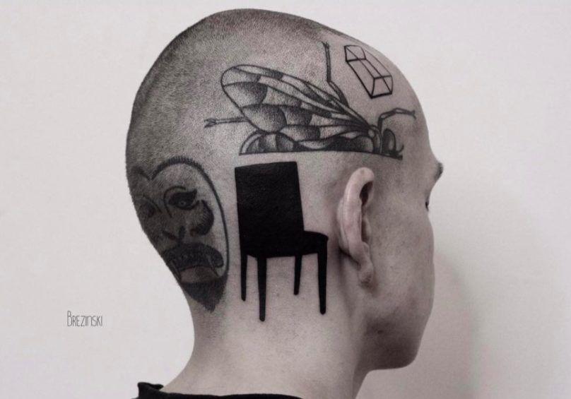 Surreal Tattoos белорусского тату-художника Ильи Брезинского on-tattoo фото голова