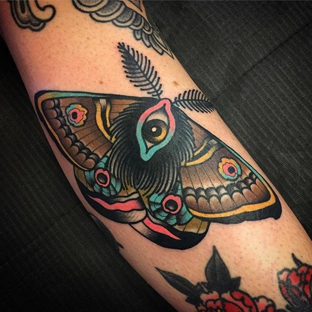 butterfly on tattoo