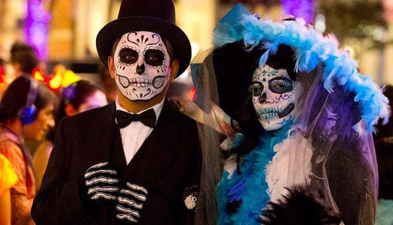 Парад Калавера Катрина в Мехико 2017 фото костюмы