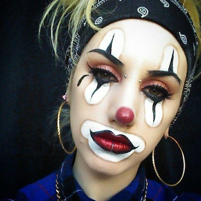 clown makeup foto