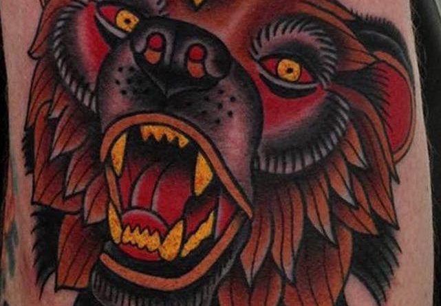 татуировки с медведем гризли фото каталог