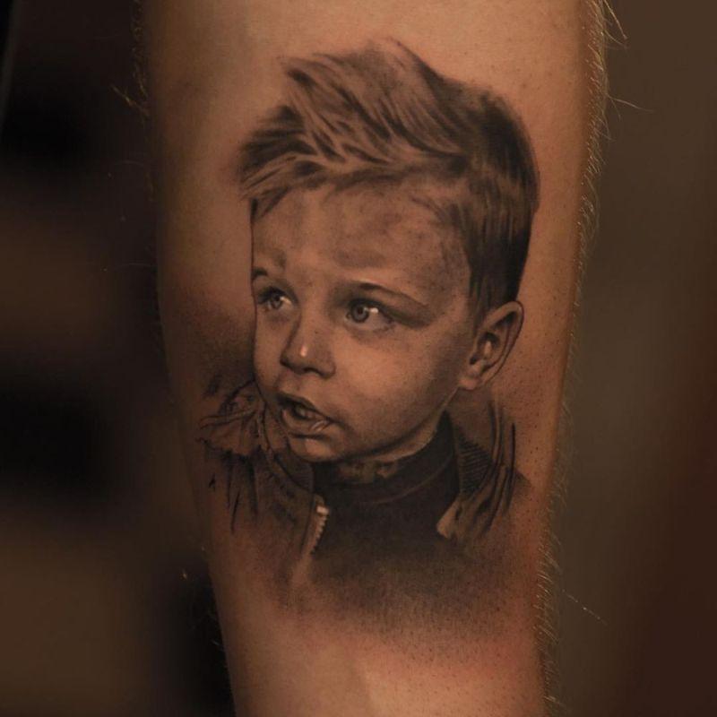 hyperrealistic tattoo img реализм, красивые татуировки фото портрет