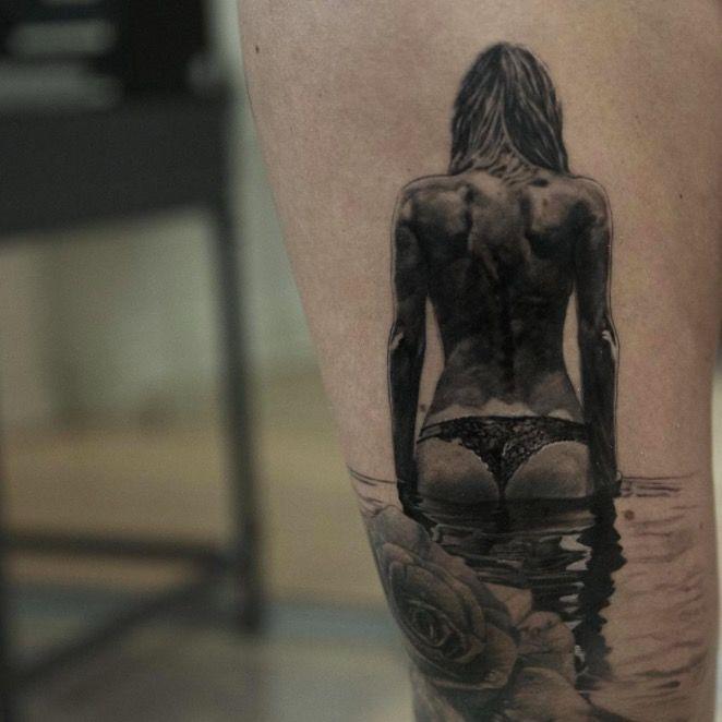 hyperrealistic tattoo img реализм, красивые татуировки фото девушка