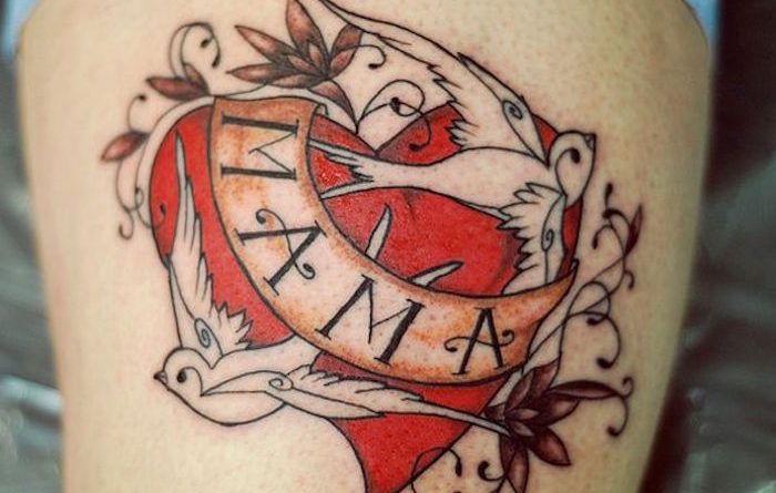 80 фото: каталог тату Мама картинки татуировок с сердцем про любовь