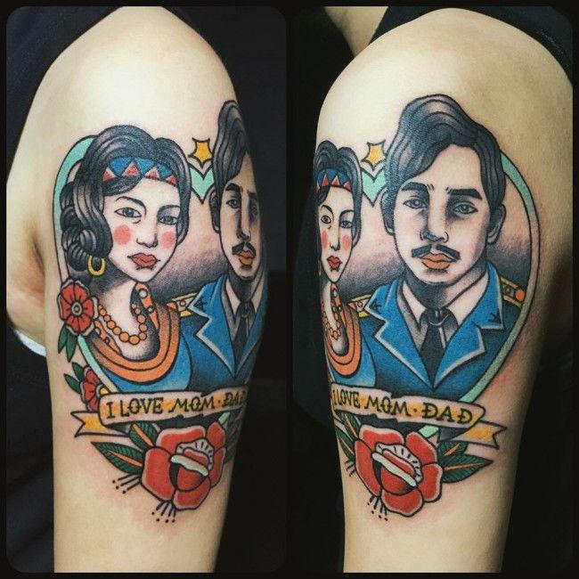 Фото картинки Тату Мама и Папа. mom & dad tattoo