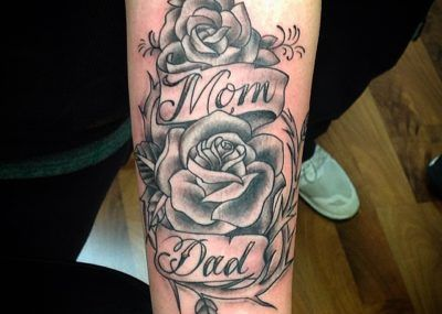 Фото картинки Тату Мама и Папа. mom & dad tattoo