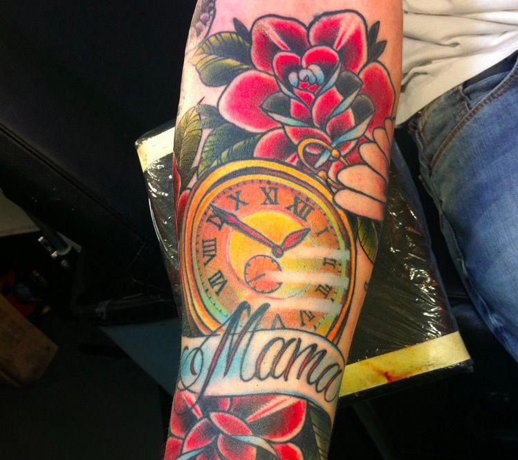 mama tattoo flower