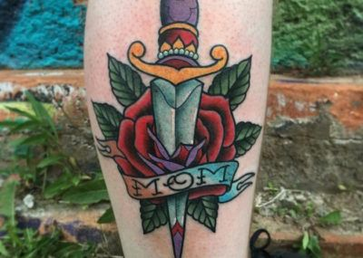 mama tattoo flower
