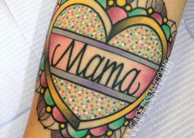 тату мама и сердце