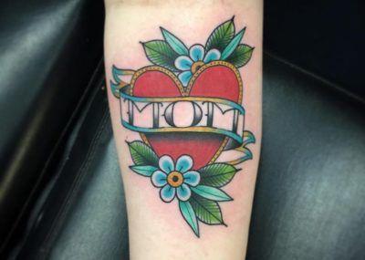 цветы тату мама и сердце