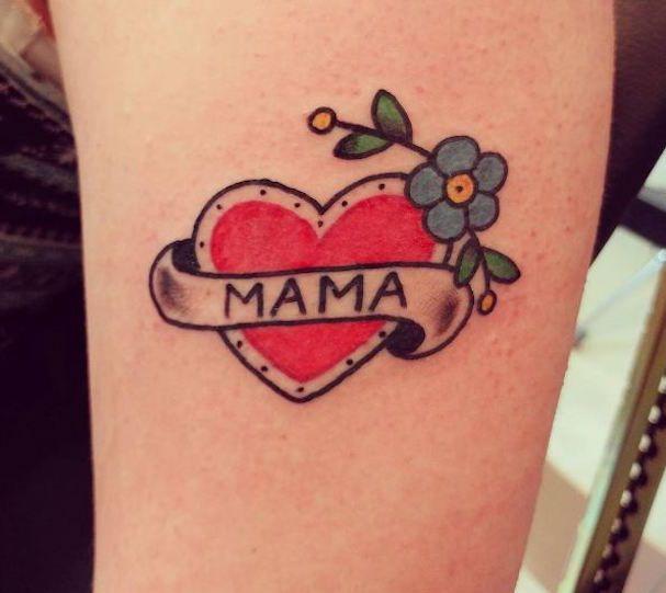 mama Tattoo фото, каталог тату Мама картинки татуировок с сердцем про любовь