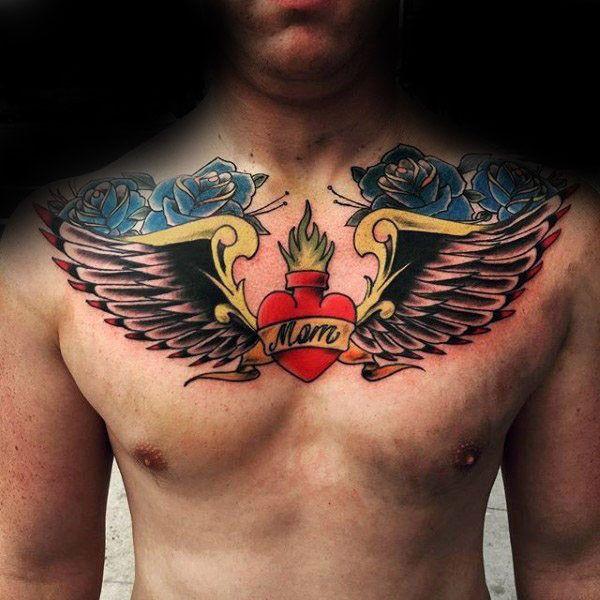 Tattoo фото, каталог тату Мама картинки татуировок с сердцем и крыльями