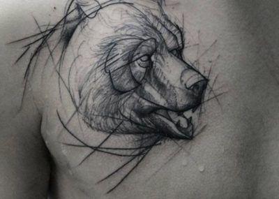тату медведь фото и значение татуировки