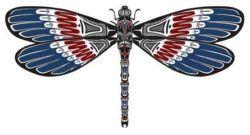 native american dragonfly стрекоза арт