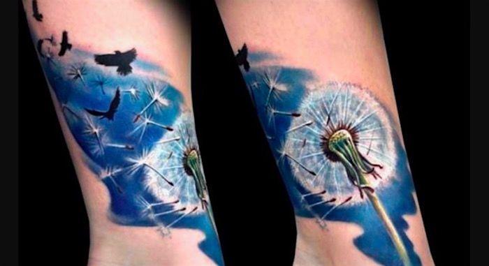 Тату одуванчик. Фото и значение татуировки   Онлайн-журнал ... Тату Дерево Дуб