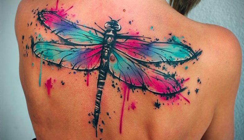 Татустрекоза.Фотоизначениеon tattoo