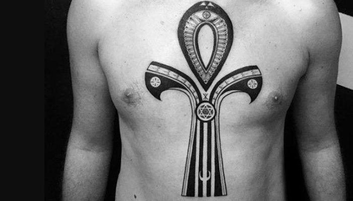 Египетский крест: Анх тату