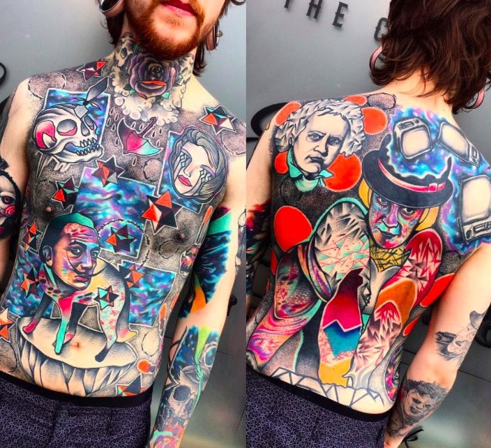 psychedelic tattoo foto