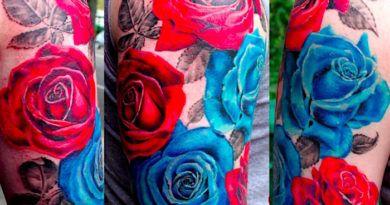 Значение татуировок с розой тату фото