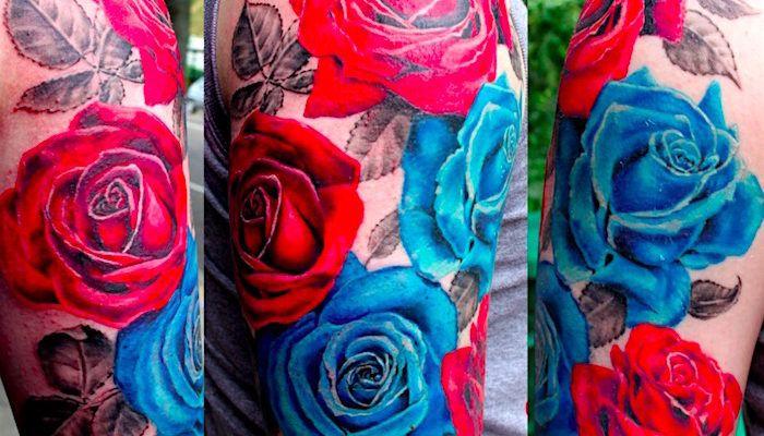 Значение татуировок с розами