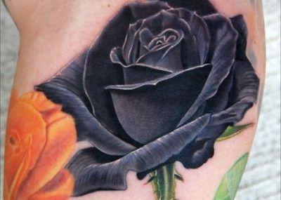 Значение татуировок с розами фото стиль цвет тату черная
