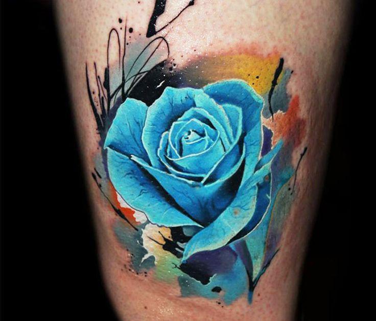 Значение татуировок с розами фото стиль цвет тату голубой