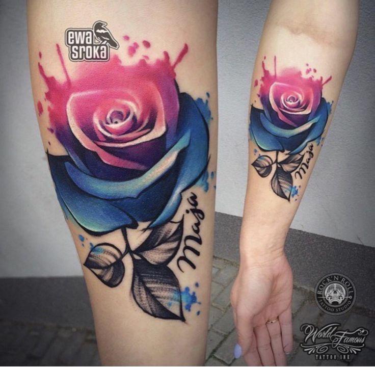 Значение татуировок с розами фото стиль цвет тату акварель