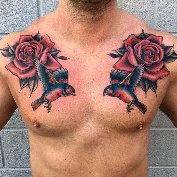 Значение татуировок с розами фото стиль цвет тату ласточки