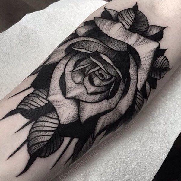 Значение татуировок с розами фото стиль цвет тату чб