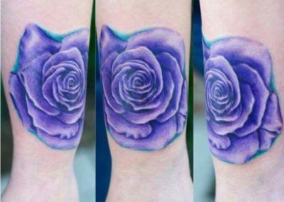 Значение татуировок с розами фото стиль цвет тату фиолетовая