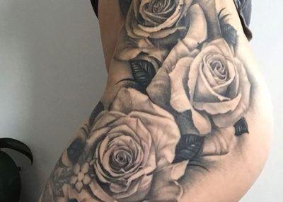 Значение татуировок с розами фото стиль цвет тату на бедре